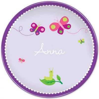 Personalized Melamine Butterfly Plate