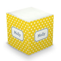 Polka Dot Sticky Memo Cube (20+ Colors)