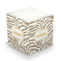 Zebra Sticky Memo Cube (20+ Colors)