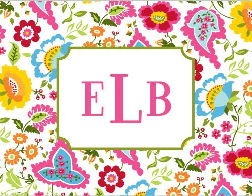 Bright Floral Foldover Note