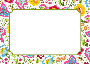 Bright Floral Flat Notecard