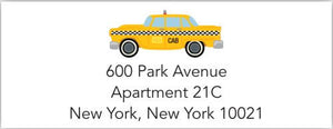 Taxi Address Label