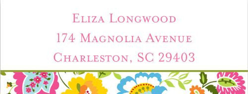 Bright Floral Address Label