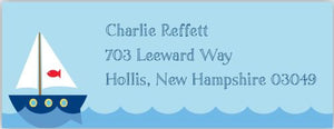Sailboat Address Label