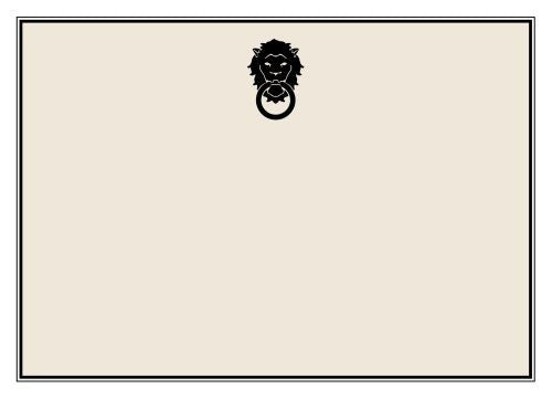 Lion Door Knocker Flat Notecard