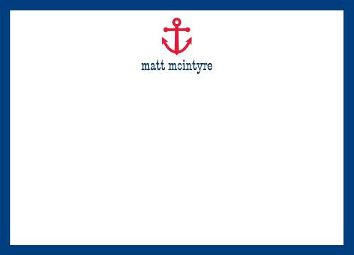Anchor Simple Flat Notecard