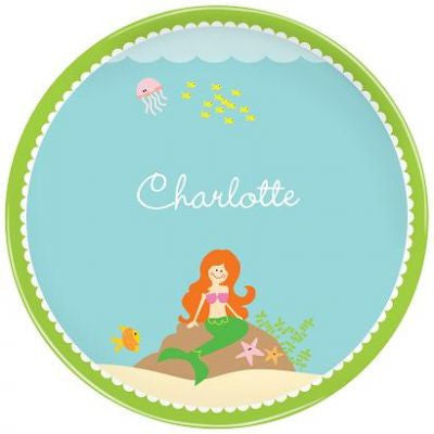 Personalized Melamine Mermaid Plate