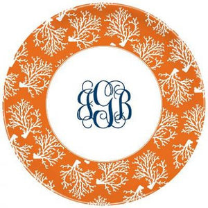 Coral Repeat Melamine Plate