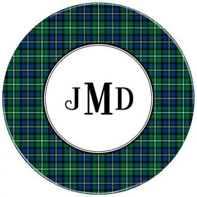 Black Watch Plaid Melamine Plate