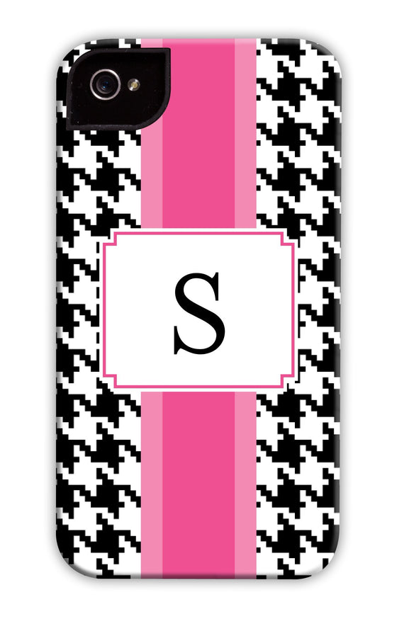 Hounds-tooth Pink Stripe Phone Case