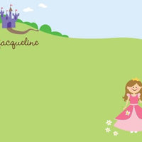 Princess Party Flat Notecard