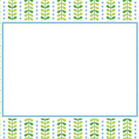 Bright Vine Green and Blue Flat Notecard