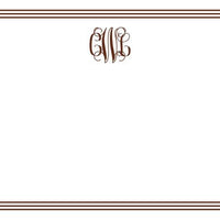 Grand Border Chocolate Flat Notecard