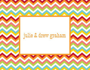 Chevron Bright Foldover Note