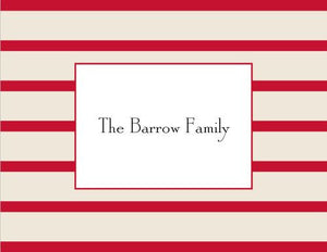 Nautical Stripe Red Foldover Note