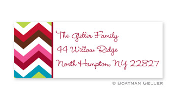 Chevron Holiday Address Label