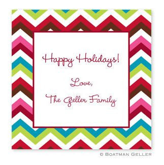Chevron Holiday Stickers