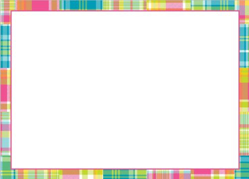 Madras Patch Bright Flat Notecard