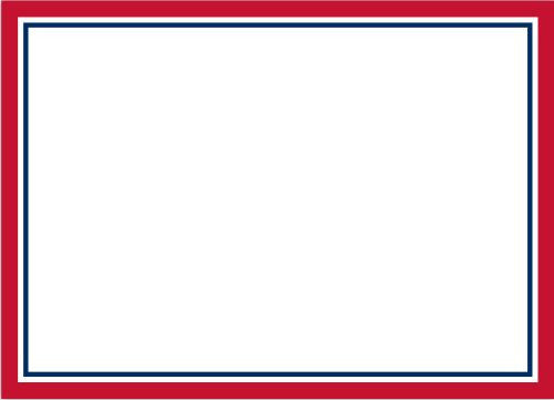border red and navy large announcement card