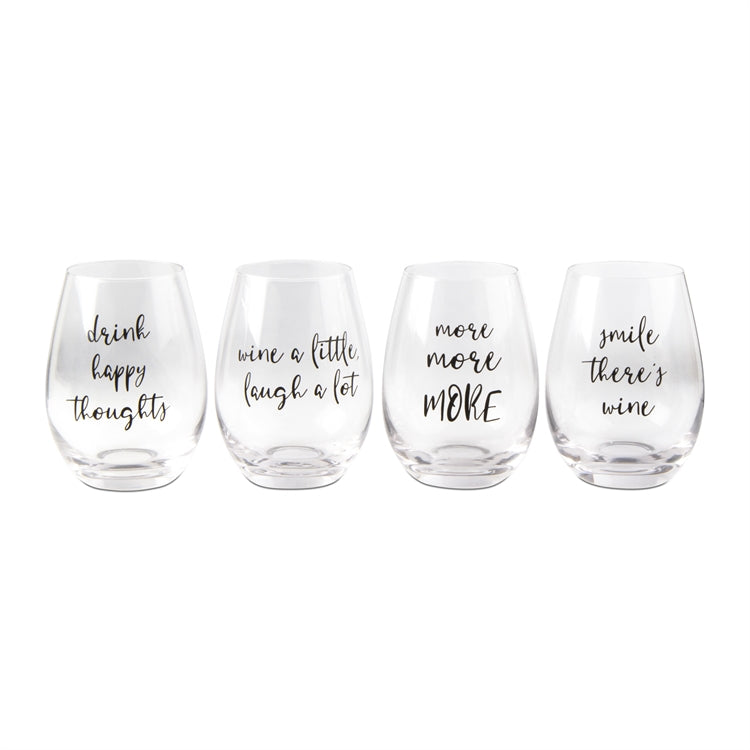 Wine Lovers Stemless Glasses