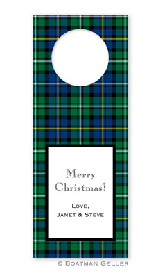 Black Watch Plaid Wine Tags