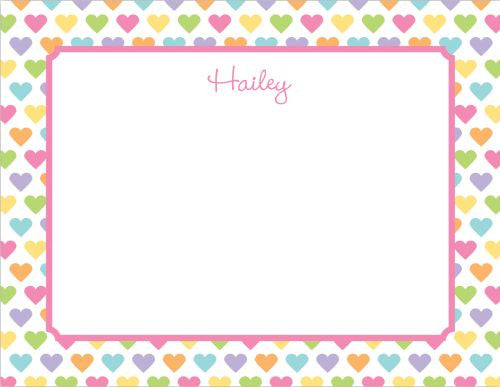 Candy Hearts Flat Notecard