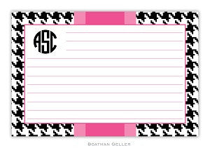 Alex Houndstooth Black Recipe Card