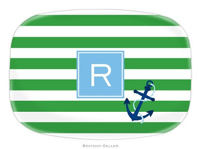 Stripe Anchor Melamine Platter