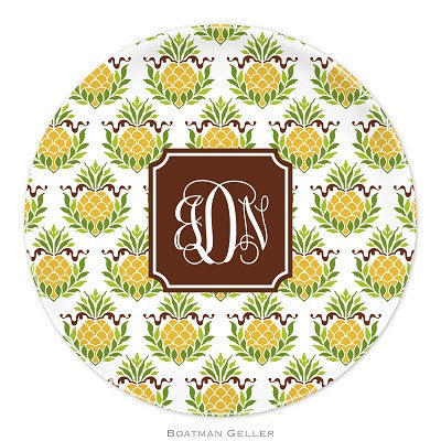 Pineapple Repeat Melamine Plate
