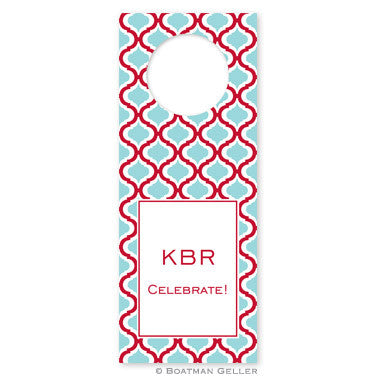 Kate Red & Teal Wine Tags
