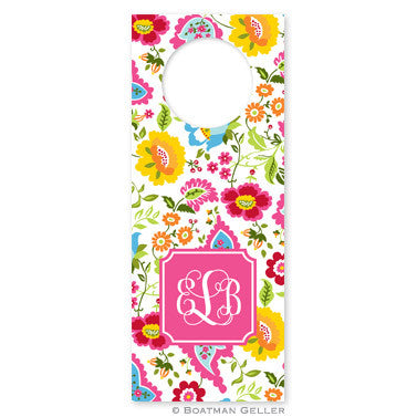 Bright Floral Wine Tag