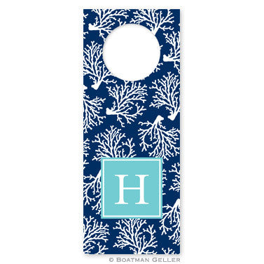 Coral Repeat Navy Wine Tags