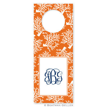 Coral Repeat Wine Tags