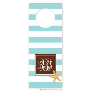 Stripe Starfish Wine Tags