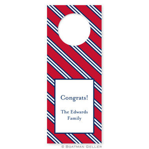 Repp Tie Red & Navy Wine Tags