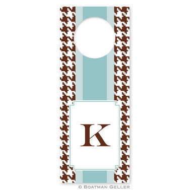 Alex Houndstooth Chocolate Wine Tags