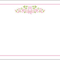 Ribbon Pink Flat Notecard