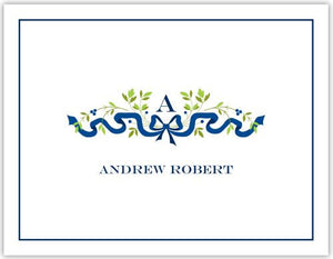 Ribbon Navy Foldover Note