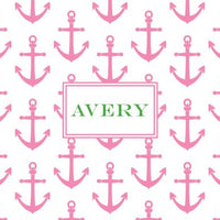 Anchors Pink Foldover Note