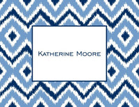 Ikat Blue Foldover Note