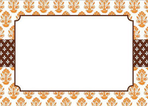 Beti Orange Flat Notecard