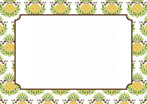 Pineapple Repeat Flat Notecard