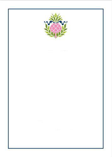 Pineapple Ribbon Pink Flat Notecard