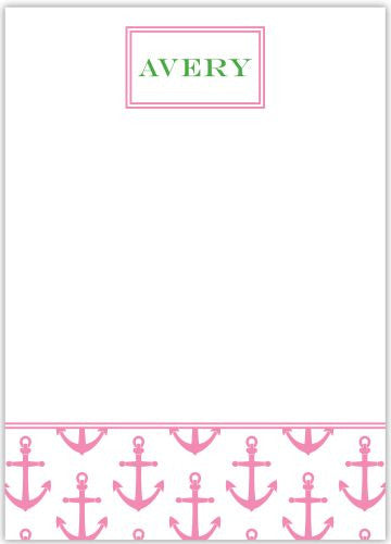 Anchors Pink Flat Notecard