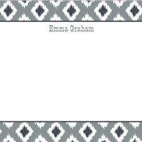 Ikat Gray Flat Notecard