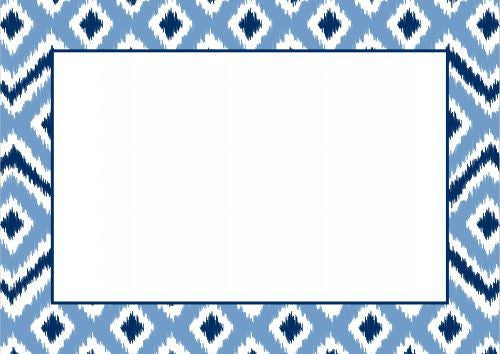 Ikat Blue Flat Notecard
