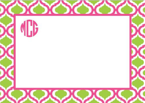 Kate Raspberry and Lime Flat Notecard