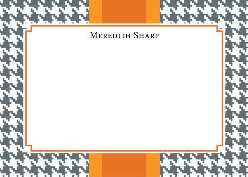 Alex Houndstooth Gray Flat Card