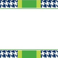 Alex Houndstooth Navy Flat Card