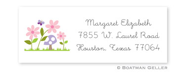 Bloom Address Label